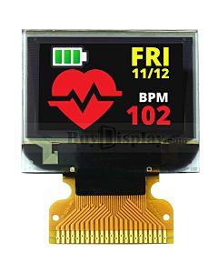 彩色0.95寸OLED显示屏/显示模块/9664/96x64点阵/并串口