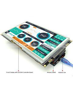 9寸TFT LCD彩色液晶显示模块/带SSD1963控制板/Arduino开发板/ Mega/Due