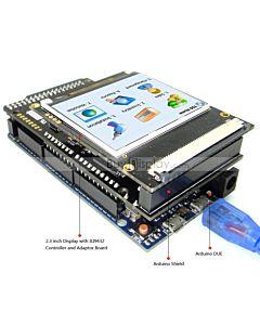 2.3寸TFT LCD彩色液晶显示模块/带转接板/Arduino开发板/ Mega/Due/Uno