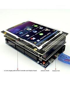 3.2寸TFT LCD彩色液晶显示模块/带转接板/Arduino开发板/ Mega/Due/Uno