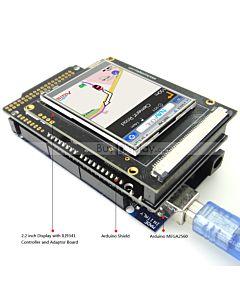 2.2寸TFT LCD彩色液晶显示模块/带转接板/Arduino开发板/ Mega/Due/Uno