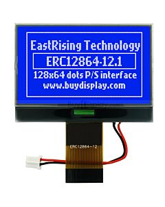 128x64 Graphic LCD Module with Backlight for Arduino,White on Blue