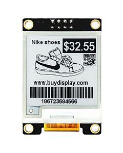 1.54英寸黑白电子墨水屏配转接板/200x200分辨率/配套Arduino/树莓派用/SSD1681控制芯片