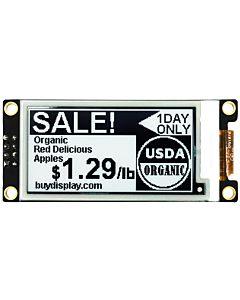 2.13英寸电子墨水屏白底黑字212x104分辨率可配套ARDUINO和树莓派