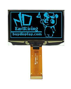 2.4寸蓝色OLED显示屏/128x64点阵/并串口/可配触摸屏和连接器