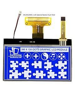 超薄3寸LCD240120液晶屏/240x120图形点阵COG液晶模块/蓝底白字