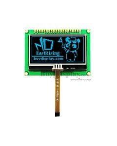 蓝色2.4寸OLED显示模块/128x64点阵配转接板/可配电阻式触摸屏