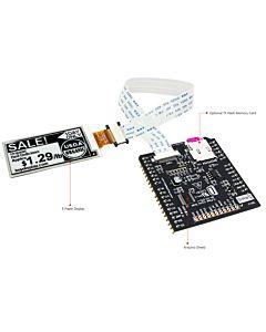 2.13英寸电子墨水屏白底黑字212x104分辨率配套ARDUINO转接板