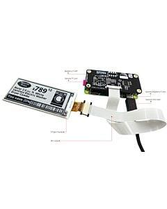 2.9英寸电子墨水屏白底黑字128x296分辨率配套树莓派转接板