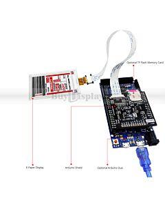 2.7英寸电子墨水屏白底红字EK79651AB控制IC带ARDUINO转接板