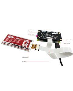 2.9英寸电子墨水屏白底红字128x296分辨率配套树莓派转接板