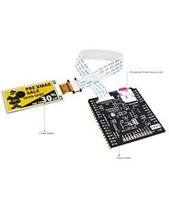 2.13英寸电子墨水屏白底黄字212x104分辨率配套ARDUINO转接板