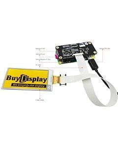 2.6英寸电子墨水屏白底黄字296x152分辨率配套树莓派转接板