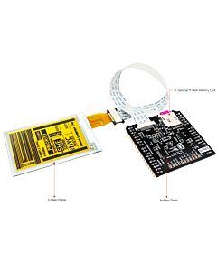 2.7英寸电子墨水屏白底黄字EK79652AC控制IC带ARDUINO转接板