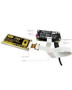 2.9英寸电子墨水屏白底黄字128x296分辨率配套树莓派转接板