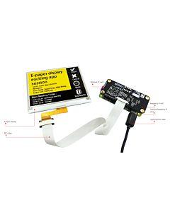 4.2英寸电子墨水屏白底黄字400x300分辨率配套树莓派转接板带控制器UC8159C