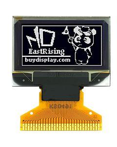 白色0.96寸OLED显示屏/显示模块/12864/128x64点阵/并串口