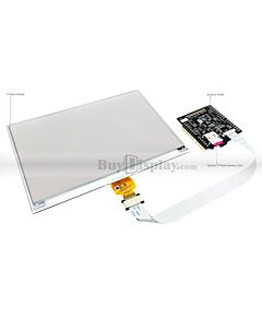 Red 7.5 inch e-Ink Display w/Arduino Shield,Library 640x384 for ESL
