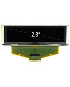White 2.8 inch Graphic OLED Display Panel 256x64 SSD1322