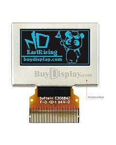 蓝色0.96寸OLED显示屏/显示模块/12864/128x64点阵/并串口