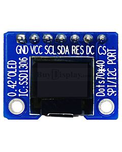 Serial SPI I2C White 0.42 inch Arduino,Raspberry Pi OLED Display 72x40