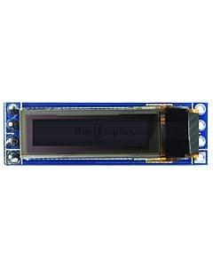 白色0.69寸OLED显示屏/显示模块/96x16点阵/IIC/SSD1306
