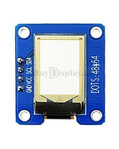 白色0.71寸OLED显示屏/显示模块/64x48点阵/IIC/SSD1306