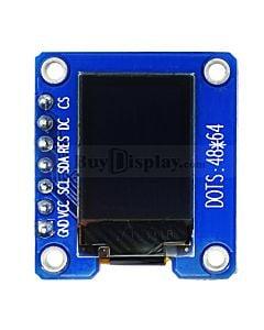 白色0.71寸OLED显示屏/显示模块/48x64点阵/SPI接口/SSD1306