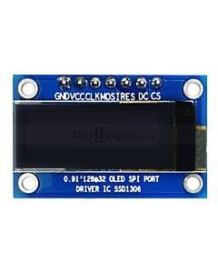 白色0.91寸OLED显示屏/显示模块/128x32点阵/SPI接口/SSD1306