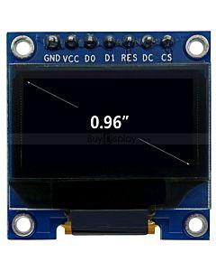 蓝色0.96寸OLED显示屏/配转接板/显示模块/12864/128x64点阵/串口/适用于arduino