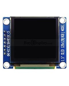 Full Color 1.5 inch Arduino,Raspberry Pi OLED Display Module 128x128
