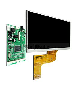 7 LCD Display TFT Module in 800x480 w/VGA Video AV Driver Board