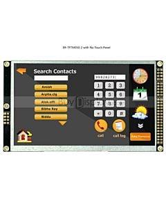 5寸TFT LCD彩色液晶显示屏配RA8875控制板/并串口/可配触摸屏/480x272