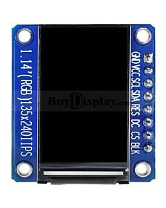 1.54 inch TFT IPS LCD Display Module 240x240 SPI for Arduino AVR Raspberry Pi
