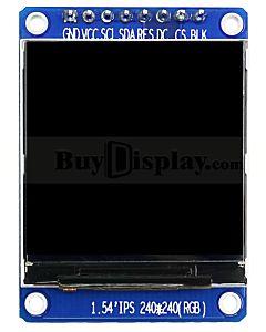 1.54寸彩色液晶显示屏/IPS全视角/240x240点阵/ST7789/配转接板/可配套ARDUINO/RASPBERRY PI用