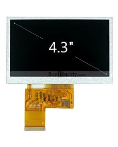 TFT 4.3 inch LCD Module OPTL TouchScreen Display for MP4,GPS,480x272