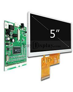 5寸480x272 TFT LCD彩色液晶显示模块配液晶屏驱动板/Video+VGA接口