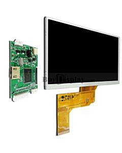 7寸TFT LCD彩色液晶显示屏配迷你HDMI驱动板/800x480分辨率