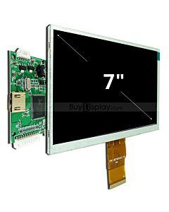 7寸TFT LCD彩色液晶显示模块配迷你HDMI驱动板/1024x600分辨率