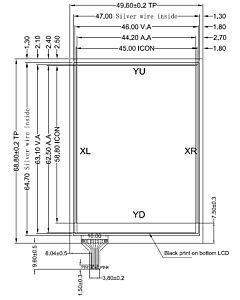 2.8寸4线电阻式触摸屏