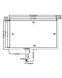 9寸4线电阻式触摸屏