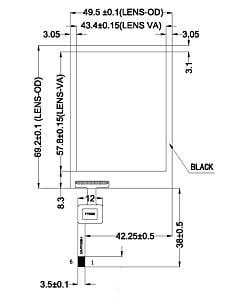 2.8寸电容式触摸屏含FT6206控制器分辨率240x320