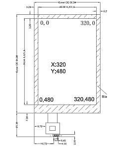 3.5寸电容式触摸屏含FT6236控制器分辨率320x480。