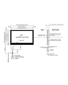 4.3寸电容式触摸屏含FT5206控制器分辨率480x272