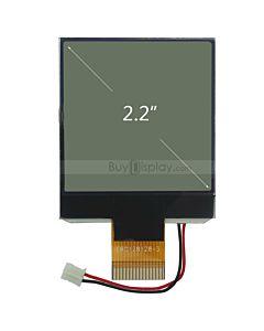 超薄2.2寸LCD128128液晶屏/128x128图形点阵COG液晶模块/白底黑字