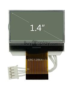 128x64 RGB Backlit Graphic COG LCD Display w/Interfacing,Tutorial