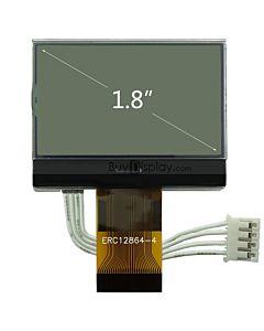 超薄1.8寸LCD12864液晶屏/128x64图形点阵COG液晶模块/七彩底黑字