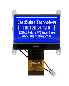 128x64 Touch Screen LCD w/MCU 8051 Tutorial,Code,White on Blue