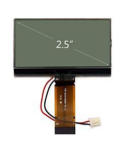 超薄2.5寸LCD13265液晶屏/132x65图形点阵COG液晶模块/白底黑字