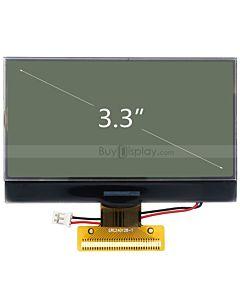 超薄3.3寸LCD240128液晶屏/240x128图形点阵COG液晶模块/白底黑字